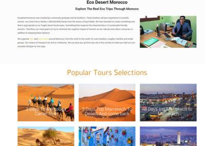 Eco Desert Morocco website project