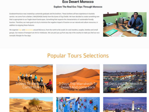 Eco Desert Morocco website project