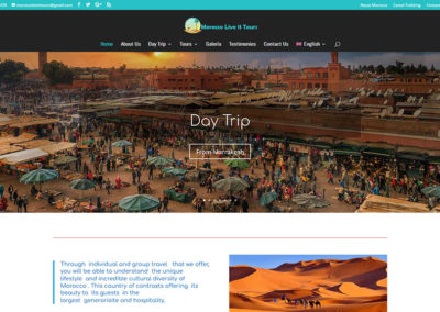 Morocco Live It Tours website project