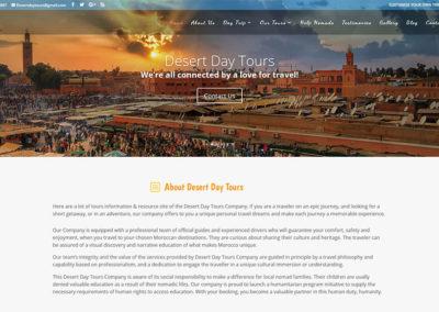 Desert Day Tours, tourism website