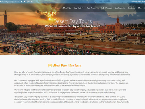 Desert Day Tours, tourism website