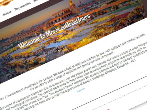 Morocco Great Tours | website Project