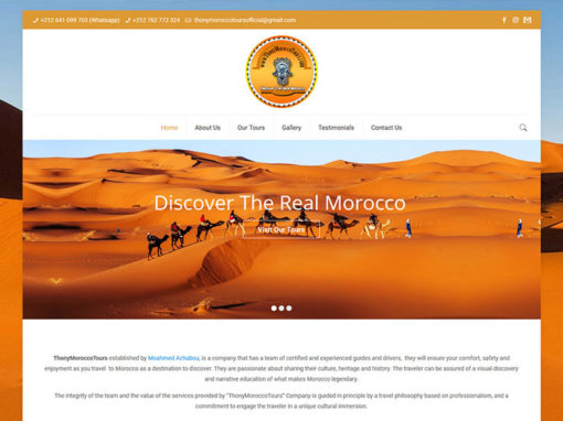 Thony Morocco Tours, website Project